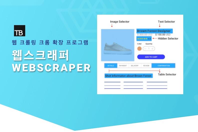 웹 스크래핑 파이썬 없이 무료로 쉽게 크롤링 WebScraper 기본 설정